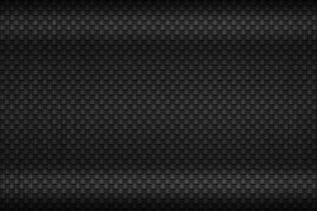 black carbon fiber plate. dark metal background and texture. 3d illustration design. cluse up view. Zdjęcie Seryjne