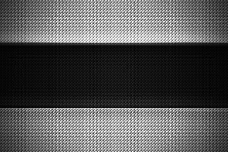 black and white carbon fiber. two tone metal background and texture. 3d illustration design.