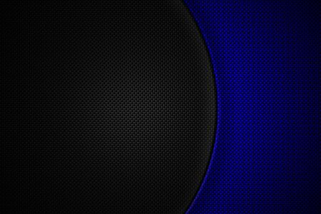 blue and black carbon fiber. two tone metal background and texture. 3d illustration design.