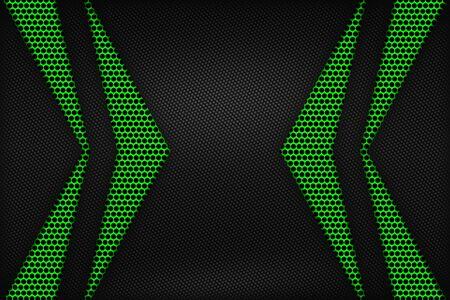Green and black carbon fiber.