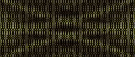 yellow and black mesh metal background and texture. 3d illustration banner for website template.