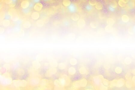 gold and red bokeh background with glitter. party design for background and texture. illustration.