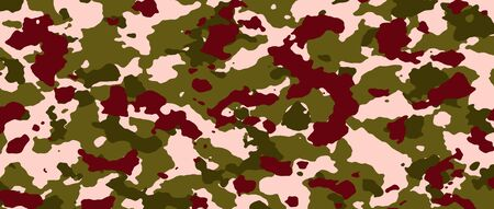 brown camouflage banner. background and texture. illustration for background template. extreme widescreen.