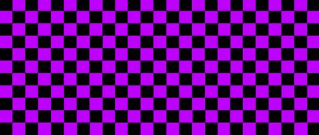 purple and black checkered flag for racing background and texture. 3d illustration banner. extreme widescreen ratio.