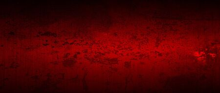 red and black scratch metal background and texture. illustration. extreme widescreen ratio.