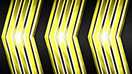 yellow gold and black shiny metal background and mesh texture. metal background and texture. 3d illustration design. luxury and shiny for game and futuristic template.