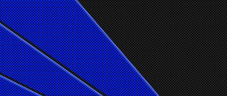 blue and black carbon fibre background and texture. 3d illustration. extreme widescreen for website template.