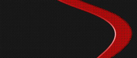 red and black carbon fibre background and texture. 3d illustration. extreme widescreen for website template. Zdjęcie Seryjne