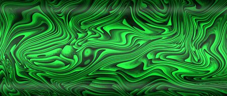 green liquid metal with light and shadow. metal background and texture. 3d illustration.