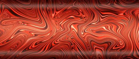 red liquid metal with light and shadow. metal background and texture. 3d illustration.