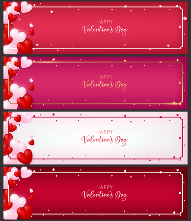 Template of voucher card as valentine concept. Included 4 types of paper. Each paper contain heart, order and greeting text of valentine.