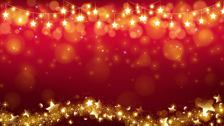 abstract Christmas background with glowing stars are dropping the magic twinkle and bottom including stardust flowing as in a wavy line 向量圖像