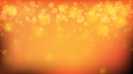 Yellow abstract background with blurred bokehs