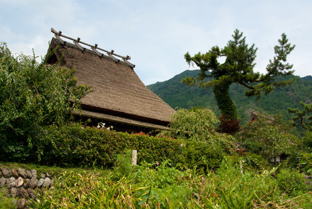 Historical village with thatched roof in Miyama Kyoto Japan 写真素材