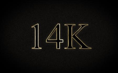 14K Gold Stock Photo