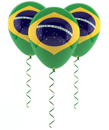 brazilian flag balloon photo