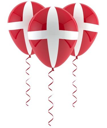 Danish flag balloon Imagens