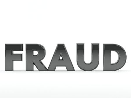 Fraud text in 3D