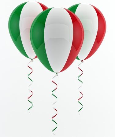 Italiaanse ballonnen - Vlag Stockfoto