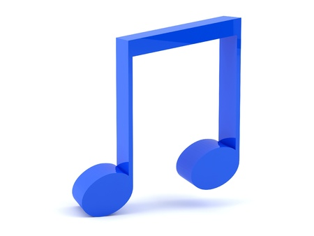 musical note: Musical note in 3D
