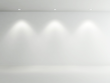 Empty Room white Standard-Bild