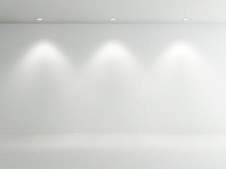 ceiling lamp: Empty Room white Stock Photo