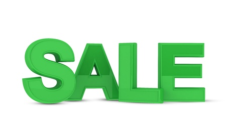 Sale text in 3D Stock Photo - 17585516