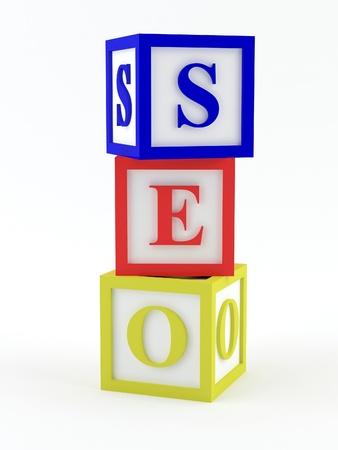 Play blocks spelling SEO Stock Photo - 17585481