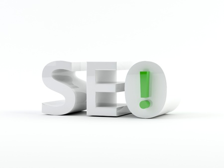 3D generated image  SEO - Search engine optimization Stock Photo - 17585478