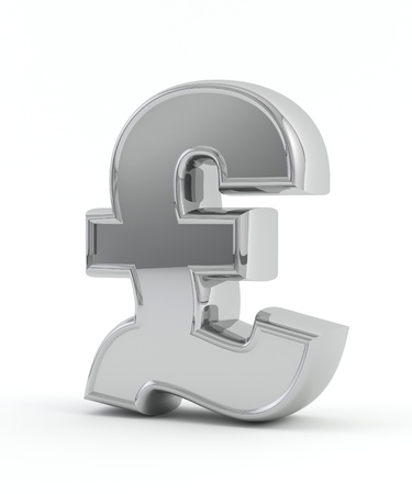 welth: Chrome pound symbol Stock Photo