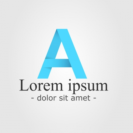Artistic logo with the Letter A - Alphabet A