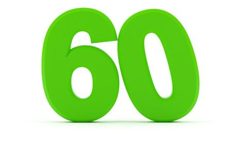 tilted: Number 60 tilted zero