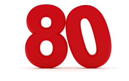 tilted: Number 80 tilted zero