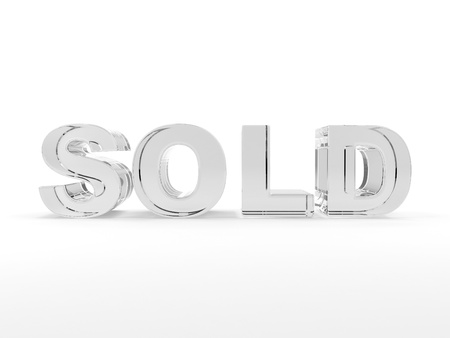 glas 3d: 3D sold text med of glass
