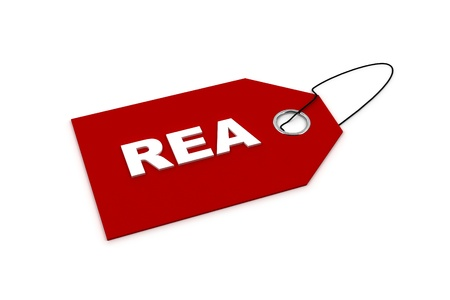 rea: price tag with the word REA - REA is swedish for sales