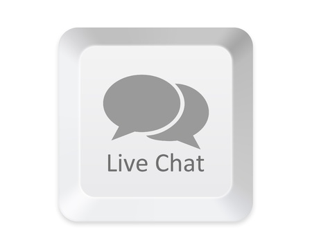 Live chat button photo