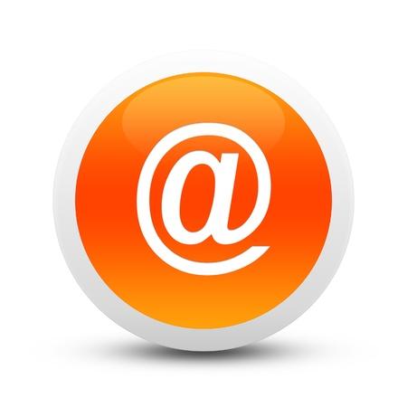 Glossy mailsign button Banco de Imagens