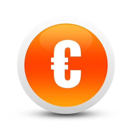 Glossy Euro sign button Stock Photo - 20407382