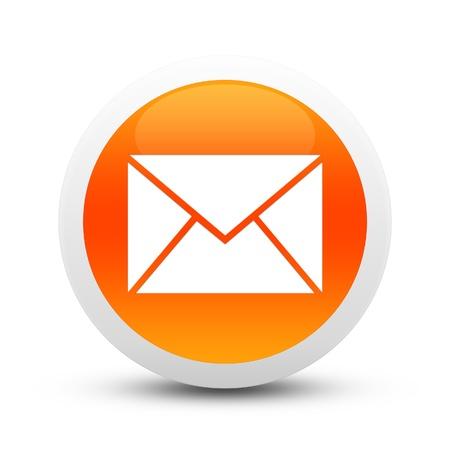 arbol de problemas: Bot�n de correo electr�nico Glossy Foto de archivo