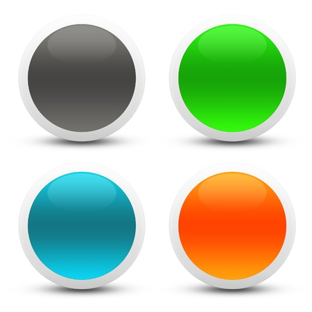 Glossy web buttons photo