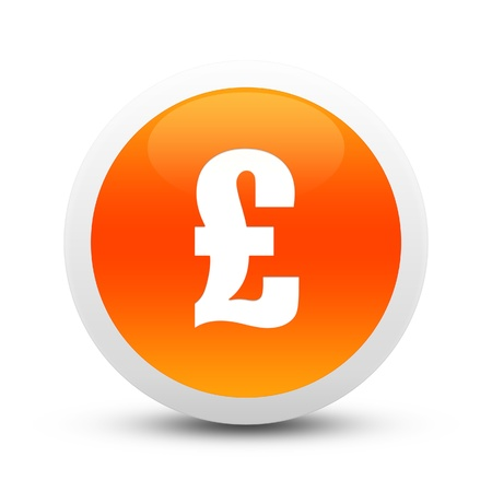 Glossy Pound sign button Stock Photo - 20407383