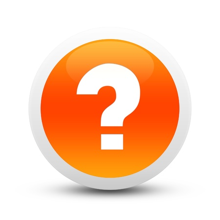 Glossy question mark button Standard-Bild