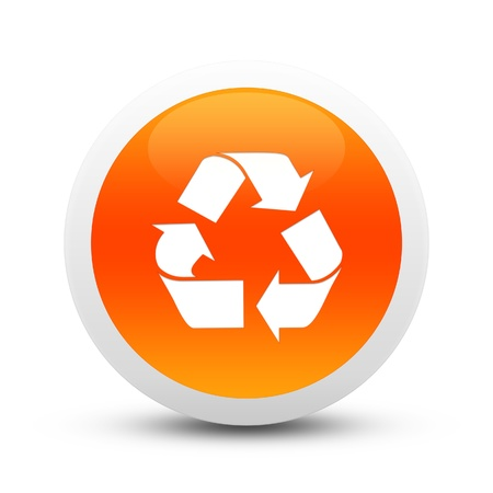 long term evolution: Glossy Recycle button Stock Photo