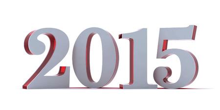 Moder stijl 2015 op wit wordt geïsoleerd. Rood glanzend kunststof kern