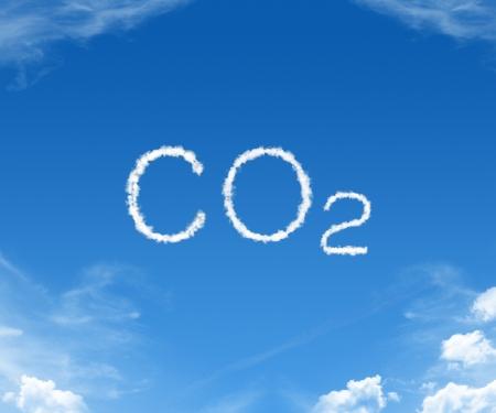 Wolken die de CO2-goud in de hemel Stockfoto
