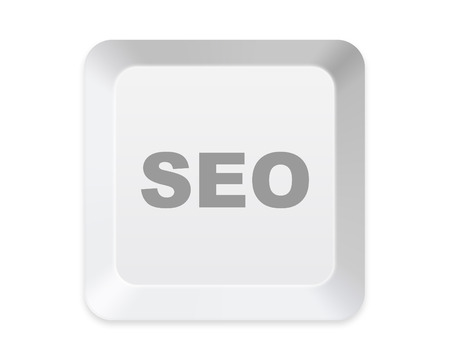 keyboard SEO button isolated on white