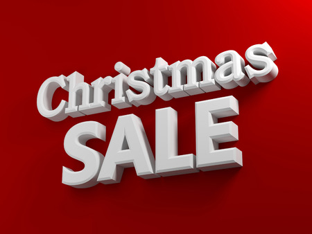 Red background with white text Christmas sale