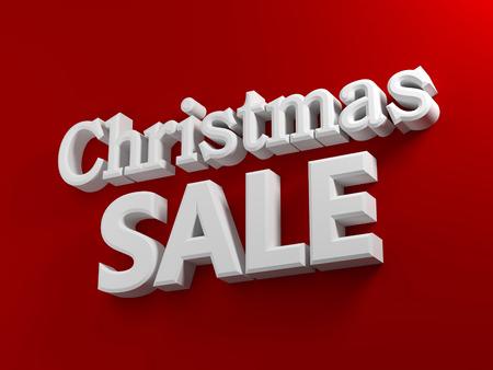 Rode achtergrond met witte tekst verkoop van Kerstmis