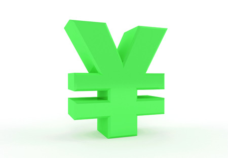 3D generated sign of Yen or Yuan