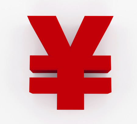 yuan: 3D generated sign of Yen or Yuan
